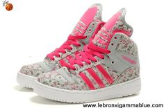 Wholesale Discount Girl's Adidas X Jeremy Scott Big Tongue Glow In Dark Shoes For Sale