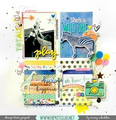 Check out this fun and bright LO designed by @missywhidden with our #september2015 kits featuring @americancrafts @amytangerine @dearlizzy @ellesstudio  #hipkits #hipkitclub #scrapbook #scrapbookkits #scrapbooking #septemberkits