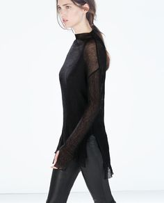 ZARA - WOMAN - ORGANZA SWEATER