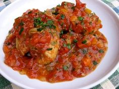 Easy, healthy and delectable recipe for chicken thighs done osso buco style in the slow cooker