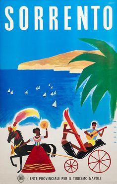 TV89 Vintage 1950/'s A3 Sorrento Campania Italy Italian Travel Poster Reprint