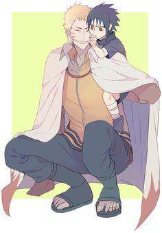 NaruSasu <3 Older Naruto and Younger Sasuke