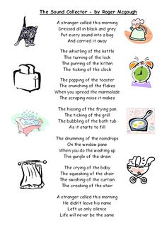 To go with the Word Collector by Peter Reynolds-- Golden Sower Nominee. The Sound Collector by Roger McGough! I read this poem when I was little. Science Poems, Science Activities, Classroom Activities, Roger Mcgough, Anna Craft, Sound Science, Story Poems, Poetry For Kids, Teaching Poetry