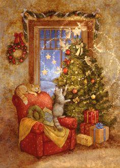 Solve Christmas Magic jigsaw puzzle online with 35 pieces Magical Christmas, Christmas Mood, Noel Christmas, Whimsical Christmas Art, Christmas Puzzle, Christmas Ideas, Christmas Wreaths, Christmas Scenes, Christmas Animals