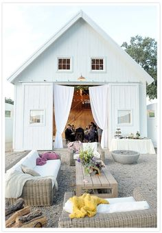 :O best of both worlds, beach and country Chique barn wedding!!