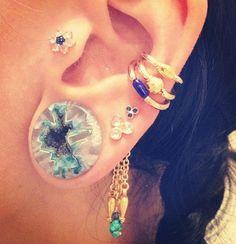 Streched & pierced ears