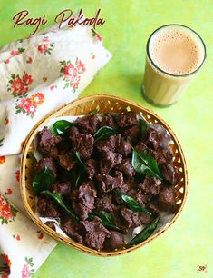 Ragi pakoda recipe, Fingermillet fritters recipe Raw Peanuts, Millet Recipes, Tea Time Snacks, Red Chilli, Fennel Seeds, Curry Leaves, Fritters, Food Videos, Food Print