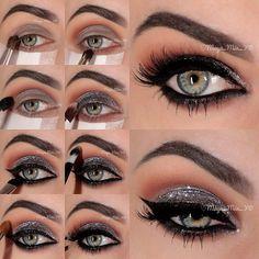 class diva glitter make up tutorial Favim