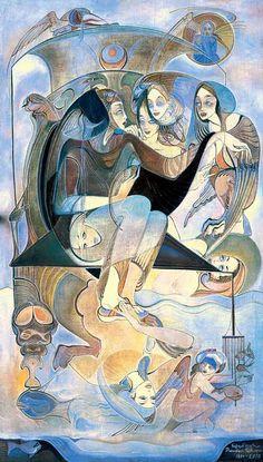 Rusudan Petviashvili - Oil, Canvas