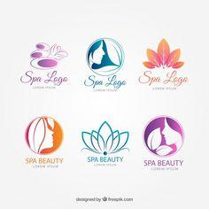 Spa Logo Vectors, Photos and PSD files . Spa Logo, Schönheitssalon Logo, Banners, Beauty Salon Logo, Health Logo, Salon Design, Beauty Art, Graphic, Logo Design