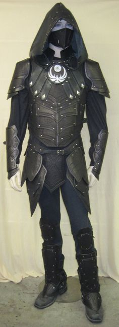 Nightingale Leather Armor Set riveted construction smooth finish. $1,400.00, via Etsy.