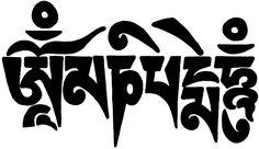 om mani padme hum in Tebetan script from DharmaShop.com site