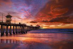 California Dreaming Panorama by Peter Lik - Photograph Print Napoleon Hill, Peter Lik Photography, Canon 100d, Imagen Natural, Huntington Beach Pier, Destinations, Harbor Lights, Foggy Morning, Romantic Night