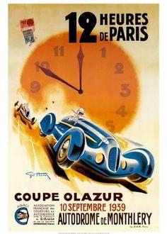 12Heures de Paris Reproduction d'art