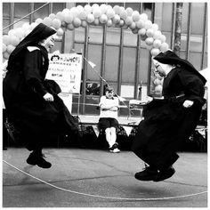 jumping nuns