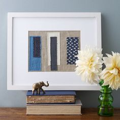 Patchwork Wall Art from west elm #colorcrush