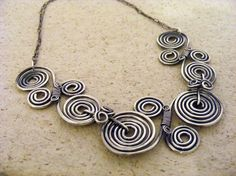 Sterling Silver Butterfly Wire Work Necklace