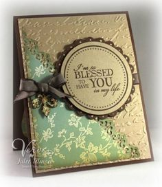 Love this layout and the embossing.