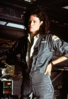 Sigourney Weaver as Ellen Ripley in the 'Alien' trilogy. I say 'trilogy' because I completely disregard the fourth instalment.