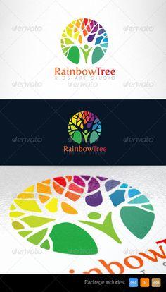 Kids Art Studio and Kindergarten Logo Template — Photoshop PSD #rainbow #art logo • Available here → https://graphicriver.net/item/kids-art-studio-and-kindergarten-logo-template/5224404?ref=pxcr