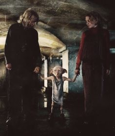 """Ready when you are, sir."" ""'Sir'? Oh, Dobby likes her very much."""