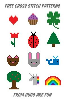 I had an idea awhile back to make a series of tiny cross stitch patterns. My initial thought was that they could go on a hexagon, but they're so tiny you could stitch them on almost anything. Each ...