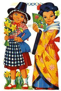 Vintage Cards, Vintage Postcards, Vintage Images, Christmas Decals, Decoupage Printables, Paper Animals, Vintage Paper Dolls, Children Images, Childhood Memories