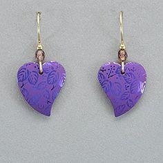 Holly Yashi Healing Heart Earrings - Purple