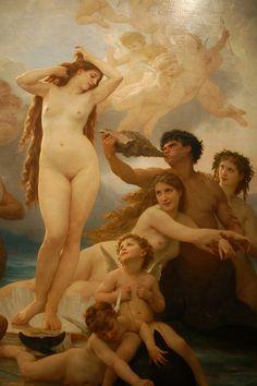 The Birth of Venus / La Naissance de Vénus, by William Bouguereau, Orsay Museum, Paris VII