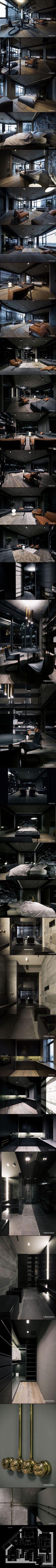 Open plan apartment in Kyiv by YoDezeen