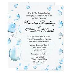 Fun Fantasy Bubbles Wedding White Card 40% off with code ZAZZSENDLOVE
