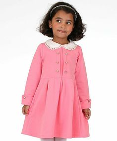 Another great find on #zulily! Pink Peter Pan Collar Dress - Toddler & Girls #zulilyfinds