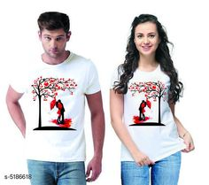 Couple Tshirts Stylish Printed Couple T-shirts  Fabric: Men Tshirt - Cotton  Women Tshirt - Cotton  Sleeves: Half Sleeves Are Included Size: Women Tshirt - S- 36 in M- 38 in L- 40 in XL- 42 in XXL- 44 in Men Tshirt - S M L XL  XXL(Refer Size Chart)  Length: Women Tshirt - Up to 22 in Men Tshirt -  S M L XL  XXL(Refer Size Chart)  Type: Stitched Description: It Has 1 Piece Of Men's T-shirt & 1 Piece Of Women's T-shirt Work - Printed Country of Origin: India Sizes Available: MEN - S/ WOMEN - S, MEN - M/ WOMEN - S, MEN - L/ WOMEN - S, MEN - XL/ WOMEN - S, MEN - XXL/ WOMEN - S, MEN - S/ WOMEN - M, MEN - M/ WOMEN - M, MEN - L/ WOMEN - M, MEN - XL/ WOMEN - M, MEN - XXL/ WOMEN - M, MEN - S/ WOMEN - L, MEN - M/ WOMEN - L, MEN - L/ WOMEN - L, MEN - XL/ WOMEN - L, MEN - XXL/ WOMEN - L, MEN - S/ WOMEN - XL, MEN - M/ WOMEN - XL, MEN - L/ WOMEN - XL, MEN - XL/ WOMEN - XL, MEN - XXL/ WOMEN - XL, MEN - S/ WOMEN - XXL, MEN - M/ WOMEN - XXL, MEN - L/ WOMEN - XXL, MEN - XL/ WOMEN - XXL, MEN - XXL/ WOMEN - XXL   Catalog Rating: ★4.1 (501)  Catalog Name: Stylish Printed Couple T-shirts CatalogID_766848 C79-SC1940 Code: 444-5186618-0111