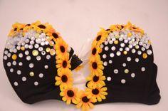EDC Sunflower Plunge Bra on Etsy, $80.00