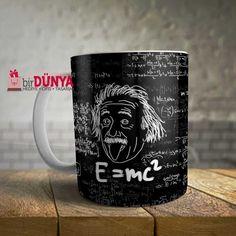 e=mc2 einstein formül baskılı porselen kupa modelimizi hemen sipariş verebilir