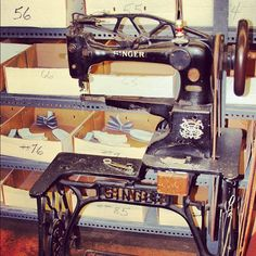 Yes, it's an antique, but it does the job! Your Riedell boots may have been sewed with this lovely Singer sewing machine when handmade in our Red Wing, Minnesota factory. Isn't she a beauty?