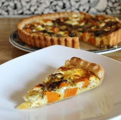 Sweet potato and goat cheese quiche - totally delicious and will definitely make again