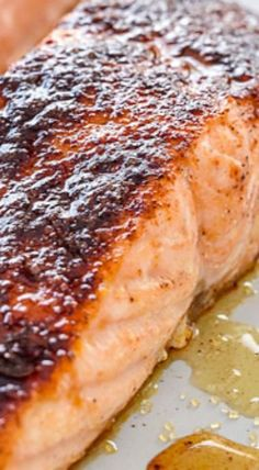 10-Minute Maple-Crusted Salmon. This is super easy, and really tasty! -deb