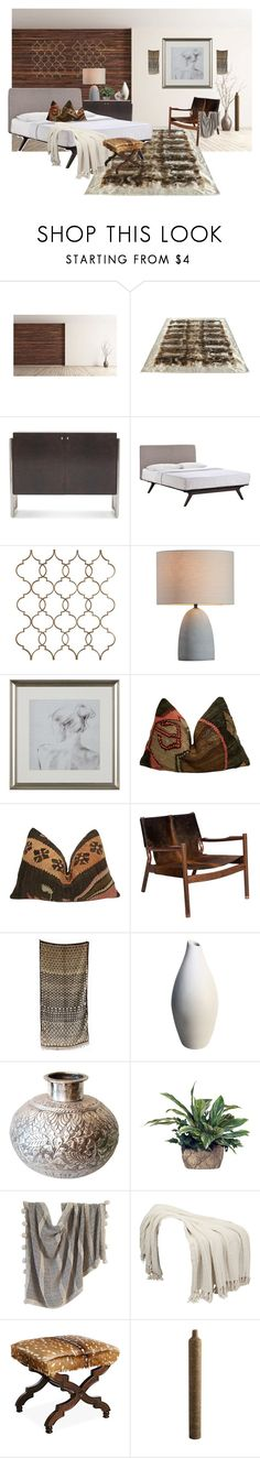 """Interior Decorating Challenge"" by tujuana ❤ liked on Polyvore featuring interior, interiors, interior design, home, home decor, interior decorating, Mitchell Gold + Bob Williams and Indigo&Lavender"
