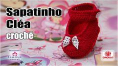 Sapatinho Cléa em crochê - Professora Simone