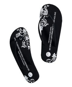 16094d8457dce2 Love this Black Emerald Diamond Flat Flip-Flop by Girl Two Doors Down on