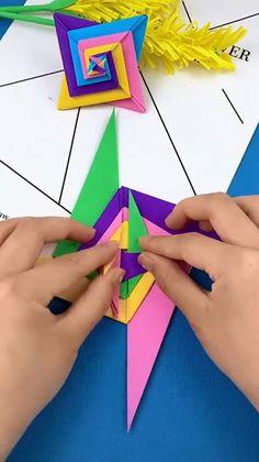 Origami Toys, Instruções Origami, Paper Crafts Origami, Origami Marvel, Toilet Paper Origami, Origami Videos, Origami Fish, Modular Origami, Oragami