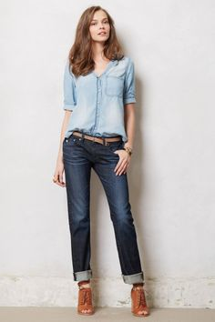 Anthropologie  AG Stevie Slim Straight Jeans