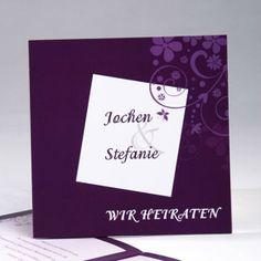 Elegant Violett Edel Einladungskarten fuer die Hochzeit p OPB221 Gelb, Blau und Lila Hochzeit Ideen – 2014 Hochzeitsfarben Trend