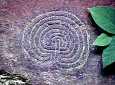 The Tintagel Labyrinth: a bronze-age carving on Cornish granite.