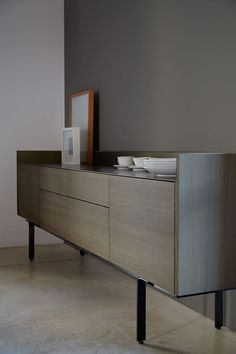 Buy online Sth412 | sideboard with drawers By punt, wooden sideboard with doors design Mario Ruiz, stockholm Collection