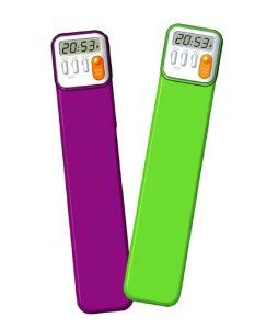 """Mark My Time Book Mark and Digital Timer (2 pack) by Mark My Time. $14.95. Each bookmark measures 1-3/4"""" x 7-3/4"""". Made of durable polyethylene plastic. Now you can accurately track children's required reading times to help take the work out of daily reading homework. Also ideal for timing music practice sessions, timed math fact activities, meetings, homework study sessions, cooking and interval training when exercising. Digital bookmark in two colors, Green and Purple. Ea..."""