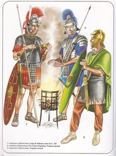 Roman legionaries, late I C. AD.