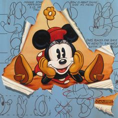 Minnie Mouse Old Fashioned Girl by Trevor Carlton