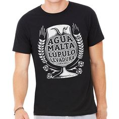 Agua Malta Spanish Craft Beer T-Shirt - Day of the Dead
